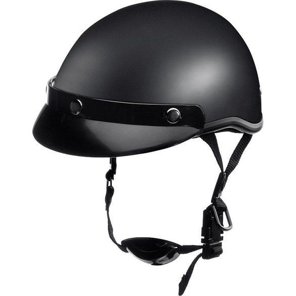 Braincap matt fekete sisak, Méret: XL