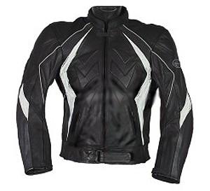 Bőrkabát  fekete-fehér,  Méret: 3XL