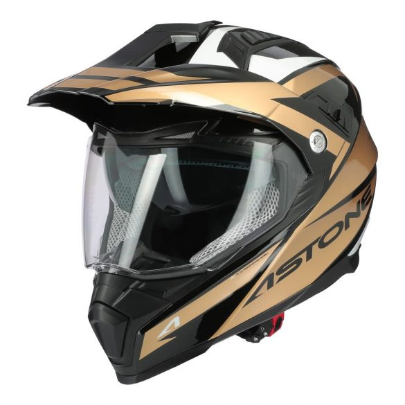 Astone Crossmax Ouragan Black / Gold sisak, Méret: 56-S
