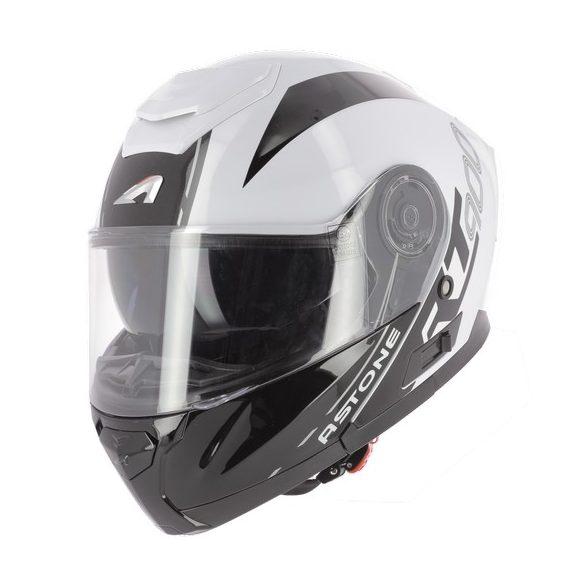 Astone RT900 Stripes nyitható sisak, White-Black  Méret: 60-L