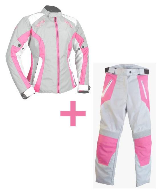 Motoros ruházat valóban kedvező áron? Válaszd a Kroze Zohra női textilkabát-nadrág szettet!